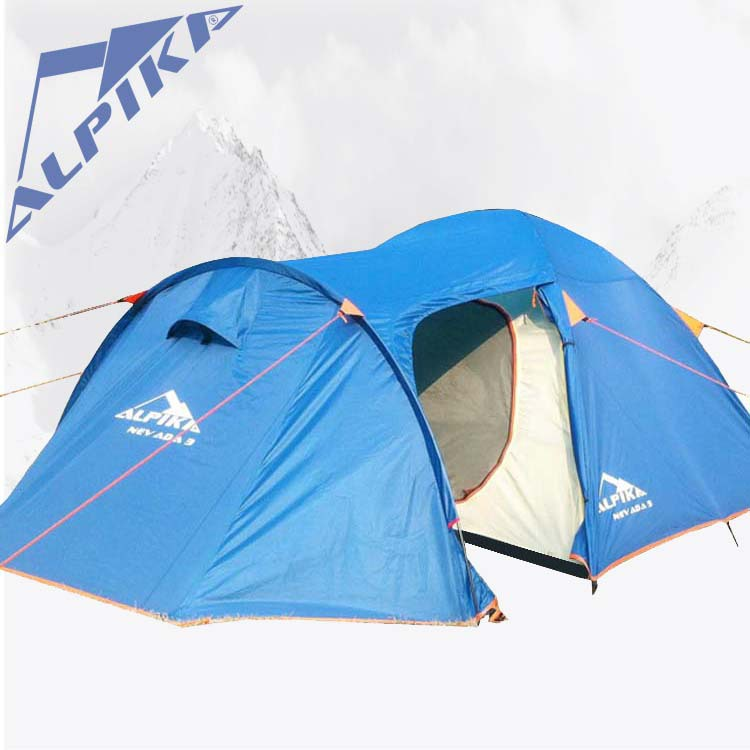 ALPIKA on sale 1 bedroom 1 living room 3-4 person against rain wind proof party hiking family outdoor camping tent
