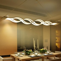 LED kreative S förmigen welle förmige acryl bar einstellbare licht kronleuchter farbe AC85 260V-in Pendelleuchten aus Licht & Beleuchtung bei