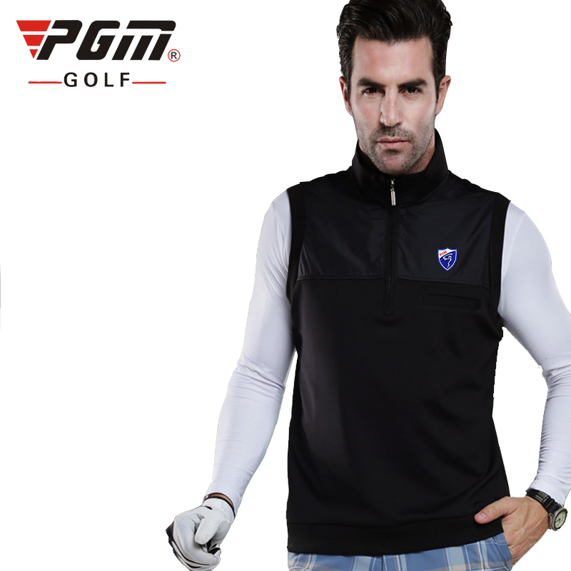 PGM Golf Waistcoat For Man Windproof Keep Warm Thicken Mans Sports Waistcoat Autumn Brand Golf Jackets Free Shipping