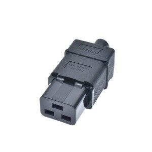 Image 4 - Tomada de pdu ups 16a 250vac iec 320 c19, tomada de iec c19 diy, conector fêmea rewireable do conector iec c19 de iec 320 c19