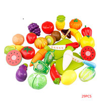 29pcs/Set Mother garden Baby Wooden Kitchen Toys Cutting Fruit Vegetables food education toys for kids girl for Children gifts