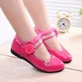 Новый Grils Shoes Дети Весной Конфеты Цвет Плоским Shoes Сладкий Горный Хрусталь Дети Shoes для Девочек Принцессы EU21-36 CSH139