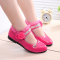New Grils Shoes Children Spring Candy Color Flat Shoes Sweet Rhinestone Kids Shoes for Girls Princess EU21-36 CSH139