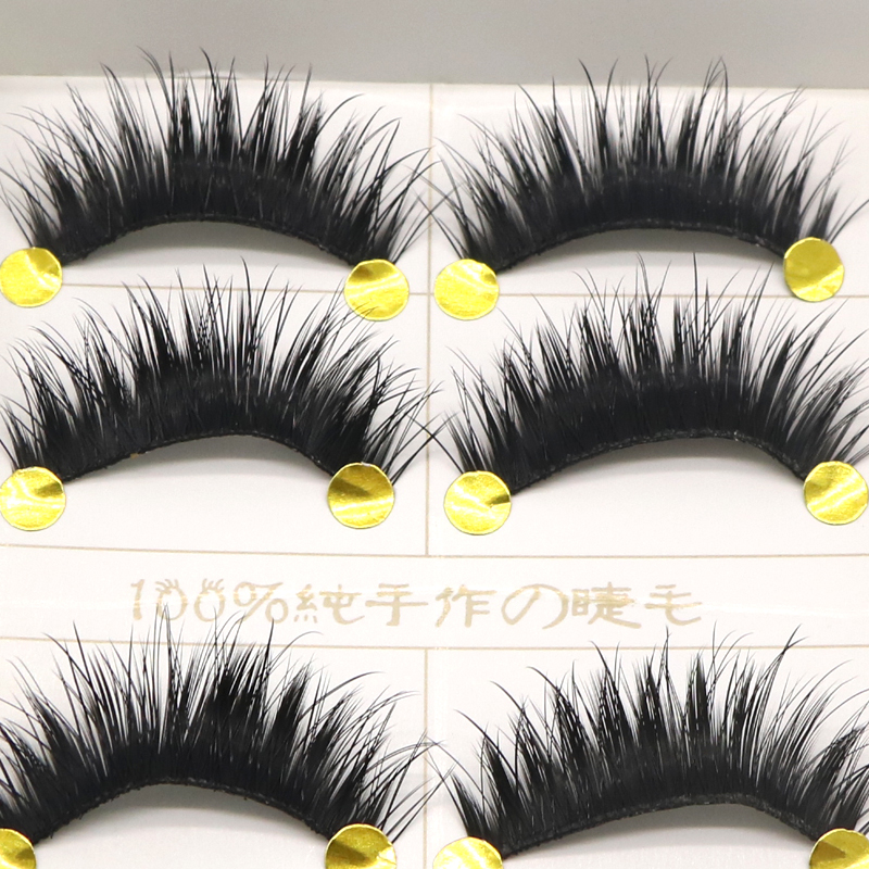 5pair Natural Long False Eyelash Black Cross Fake Eyelash Soft Long Make Up Cosmetics Eye Lash Extension Lashes For Building