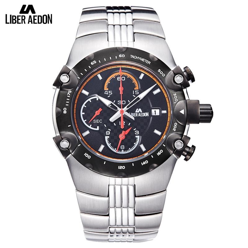 где купить Liber Aedon Sport Mens Watch Top Brand Luxury Military ShockProof Full Stainless Steel Quartz Mens Wrist Watch Relogio Masculino по лучшей цене