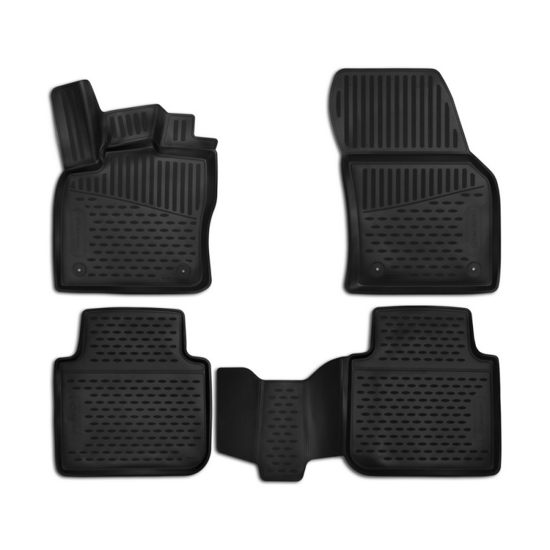 Car Mats 3D salon For SKODA Kodiaq, 2017-> 4 PCs (polyurethane) tcrt5000 reflective infrared sensor photoelectric switches 10 pcs