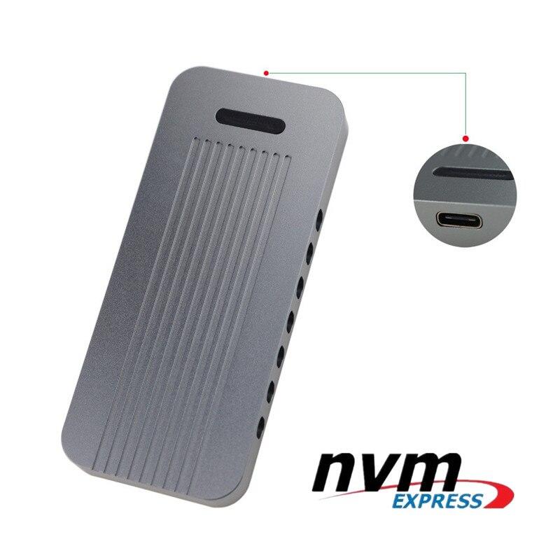 En aluminium Externe M.2 à 10gbps USB 3.1 Type C NVMe PCIe 3.0 SSD Boîtier Touche M NGFF SSD Lecteur Adaptateur