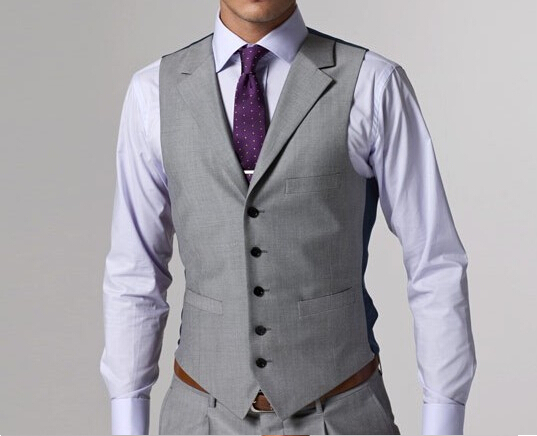 Aliexpress.com : Buy Custom made Mens Light Grey Suits Jacket ...