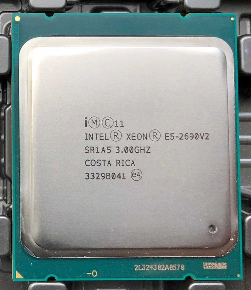 Intel E5-2690 v2 Processor SR1A5 3.0Ghz 10 Core 25MB Socket LGA 2011 Xeon CPU E5 2690 V2