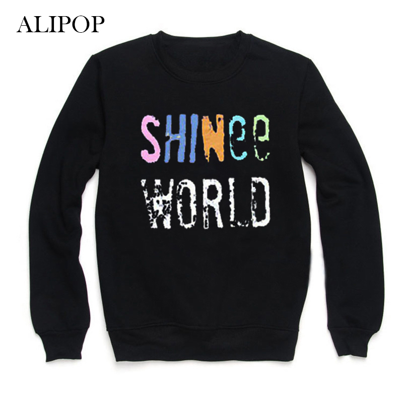 Youpop KPOP SHINee World Album Hoodie K-POP Hoodies Clothes Pullover Printed Long Sleeve Sweatshirts WY044
