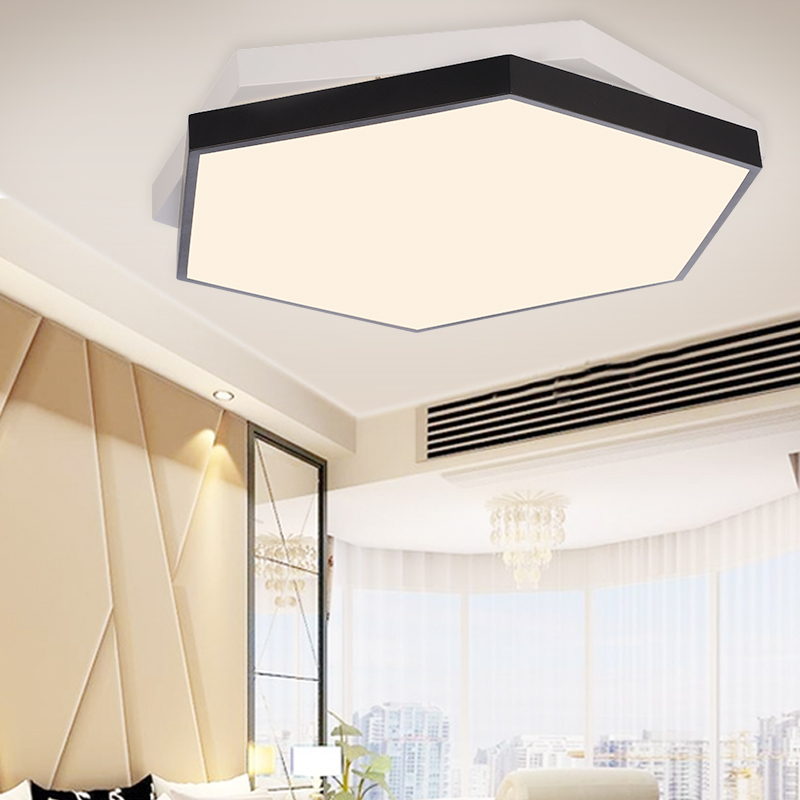 Ceiling Light creative geometric LED hexagonal conference room lighting modern simple bedroom 3051