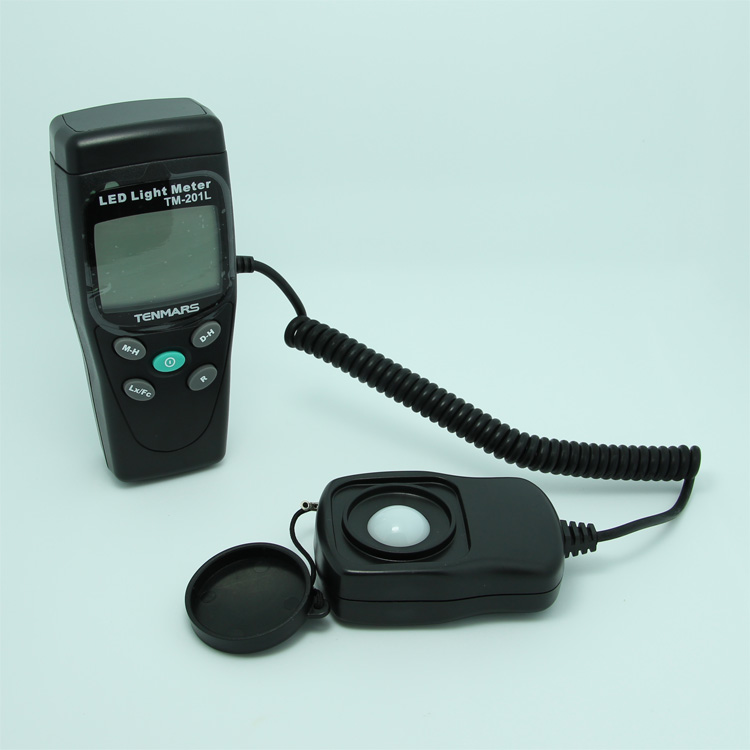 цена Tenmars TM-201L 3 1/2 LCD Display Digital Lux Meter LED White Light Illumination Meter Light Meter