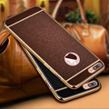 Clássico litchi veias couro tampa traseira case para iphone 7 7 plus fina capa de silicone macio tpu case para iphone 6 s 5 5S 6 6 s plus