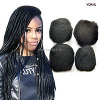 YONNA 4PCS/LOT TIGHT AFRO KINKY HAIR FOR BRAIDING 100% HUMAN HAIR FOR DREADLOCKS,TWIST BRAIDS HUMAN HAIR EXTENSIONS