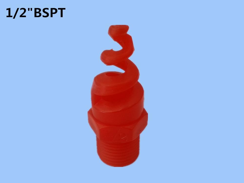 """(20 teile / los) fabrik verkauf 1/2 """"kunststoff brandbekämpfung spiral düse, garten sprinkler, spritzen, bewässerung kits"""