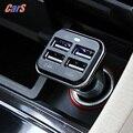Seguro y confiable de cargador de coche 12 v 4 puertos usb 6.8a adaptador cargadores para iphone 6/6 plus/5S/5c/5/4S para samsung galaxy s6/s5