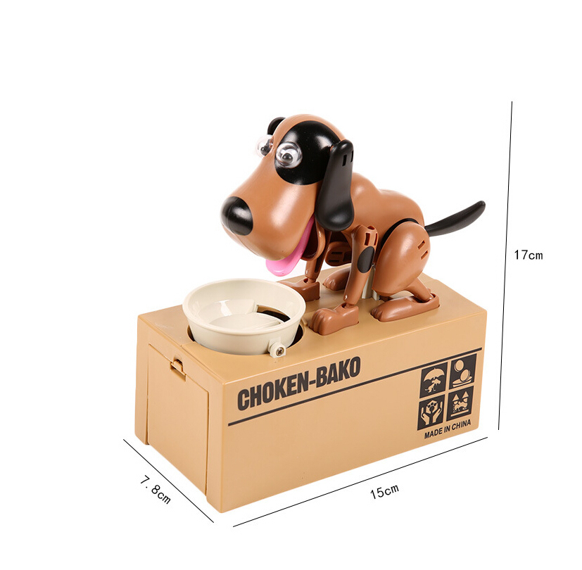1 Pc Lovely Dog Money Box Money Bank Automatic Stole Coin Piggy Bank Money Saving Box Gifts For Chirldren in Money Boxes from Home Garden