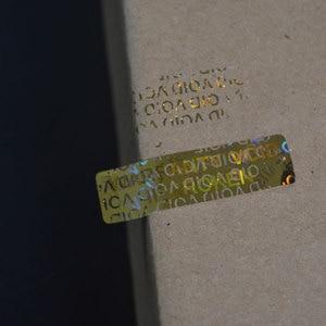 Image 2 - Autocollant nul de garantie si cassé, étiquette holographique à Laser pour hologramme, après retrait
