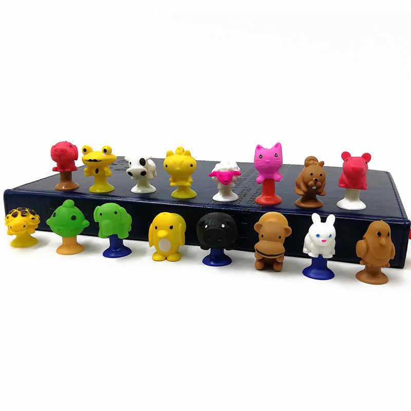 10 pçs/lote Monster Mini Otário Cápsula Modelo Pequeno Dos Desenhos Animados Anime Figuras de Ação de Animais Ventosa Brinquedos Para As Crianças