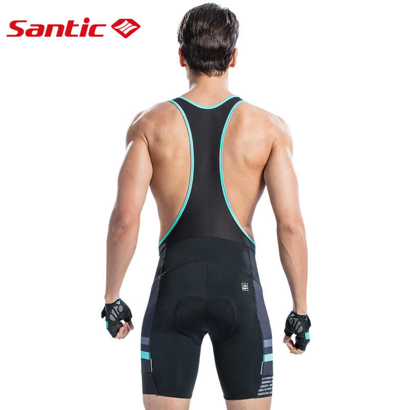 0b9af8785 ... Santic Men Cycling Padded Bib Shorts Pro Fit Summer Shockproof 4D Pad Road  MTB Bicycle Riding ...