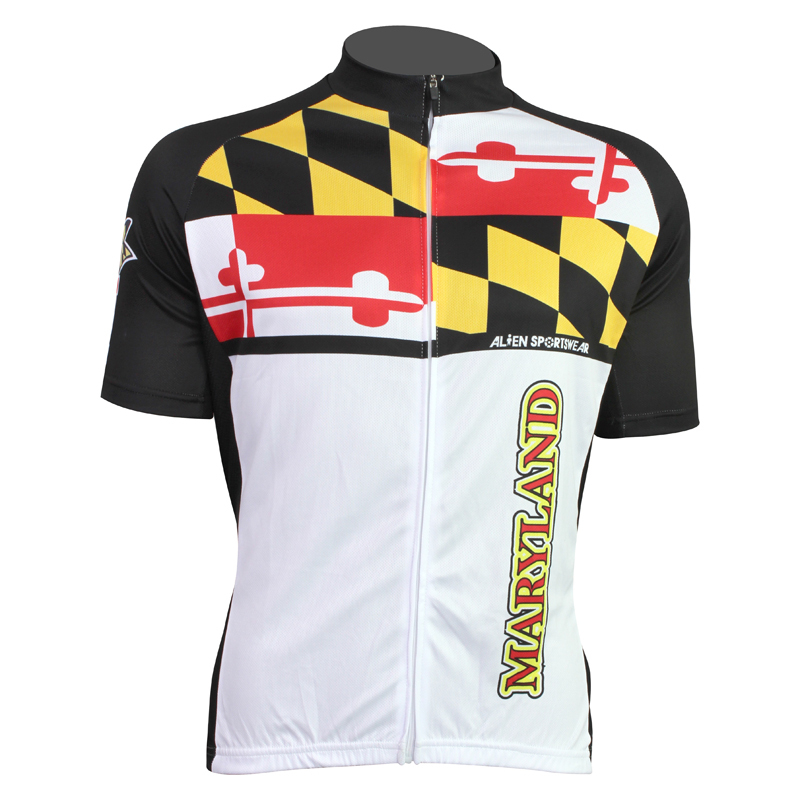 새로운 메릴랜드 외국인 스포츠웨어 남성 자전거 저지 자전거 의류 자전거 셔츠 사이즈 2XS 5XL