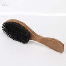FEIXIANG 3PCSHigh quality natural green sandalwood wild boar mane comb Hair brush green sandalwood comb SP massage head brush D5 green sandalwood combed wooden head neck mammary gland meridian lymphatic massage comb wide teeth comb