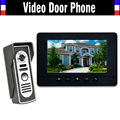 "7"" LCD Monitor Video Door Phone Intercom Doorbell System Home Security Intercom Kits IR Camera Door bell Intercom Doorphone"