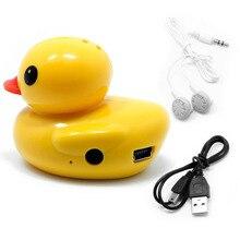 OOTDTY Pato Bonito USB Mini MP3 Digital Music Player Suporte 32 GB Micro SD Cartão de TF