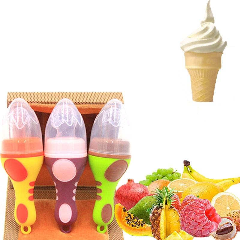 1Pcs Baby Pacifiers 2017 Ice Cream Shape Fruit Feeder Fresh Food Nipples Feeding Safe Baby Supplies Nipple Teat Pacifier Bottles