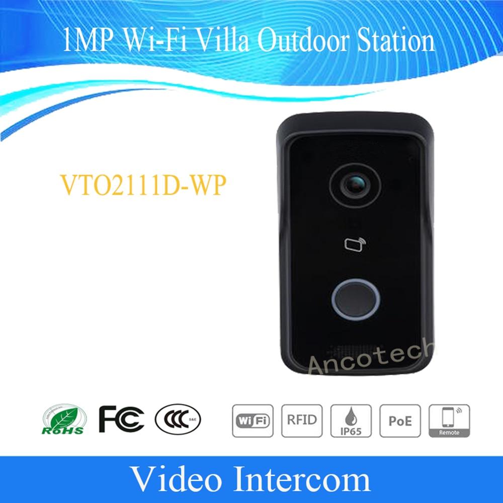Free Shipping DAHUA Video Intercom Doorbell 1MP Wi-Fi Villa Outdoor Station Without Logo VTO2111D-WP