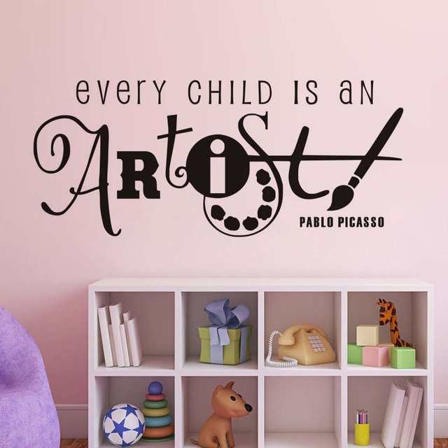 every child is an artist kids room wall stickers vinyl wall decals