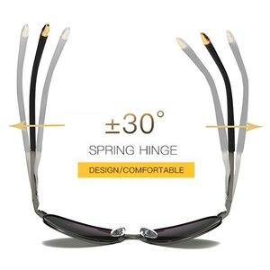 2018 HD الاستقطاب UV 400 الرجال النظارات الشمسية العلامة التجارية جديد الذكور بارد القيادة نظارات شمسية القيادة نظارات gafas دي سول ظلال مع مربع