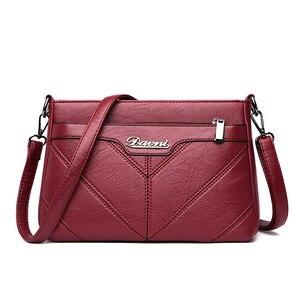 Image 5 - Moda kadın omuzdan askili çanta tasarımcısı PU deri kadın postacı çantası marka Tote Flap kadın çanta kadınlar için Crossbody çanta Sac