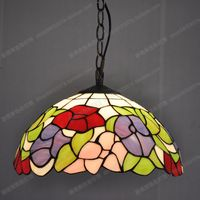 Professional manufacturer of Tiffany lamps 30CM American Pastoral Chandelier Lighting Stained Glass Lamps Kitchen Restaurant