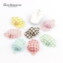 20 piezas lindo Mini Grid Hat 32mm fieltro Mini Top sombrero base Fascinator mujeres sombrero de fiesta DIY accesorios hechos a mano(China)