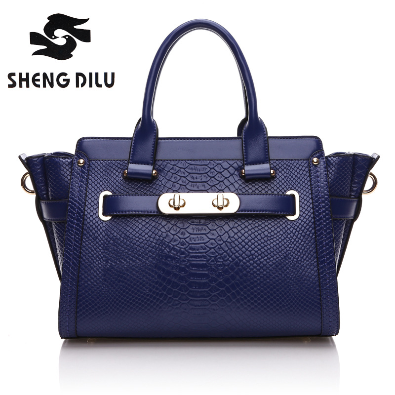 shengdilu brand Trapeze handbag new 2017 women tote 100% genuine leather shoulder  Serpentine Grain Messenger bag free Shipping baile sweet ring с анальным отростком черное эрекционное кольцо стимуляция клитора
