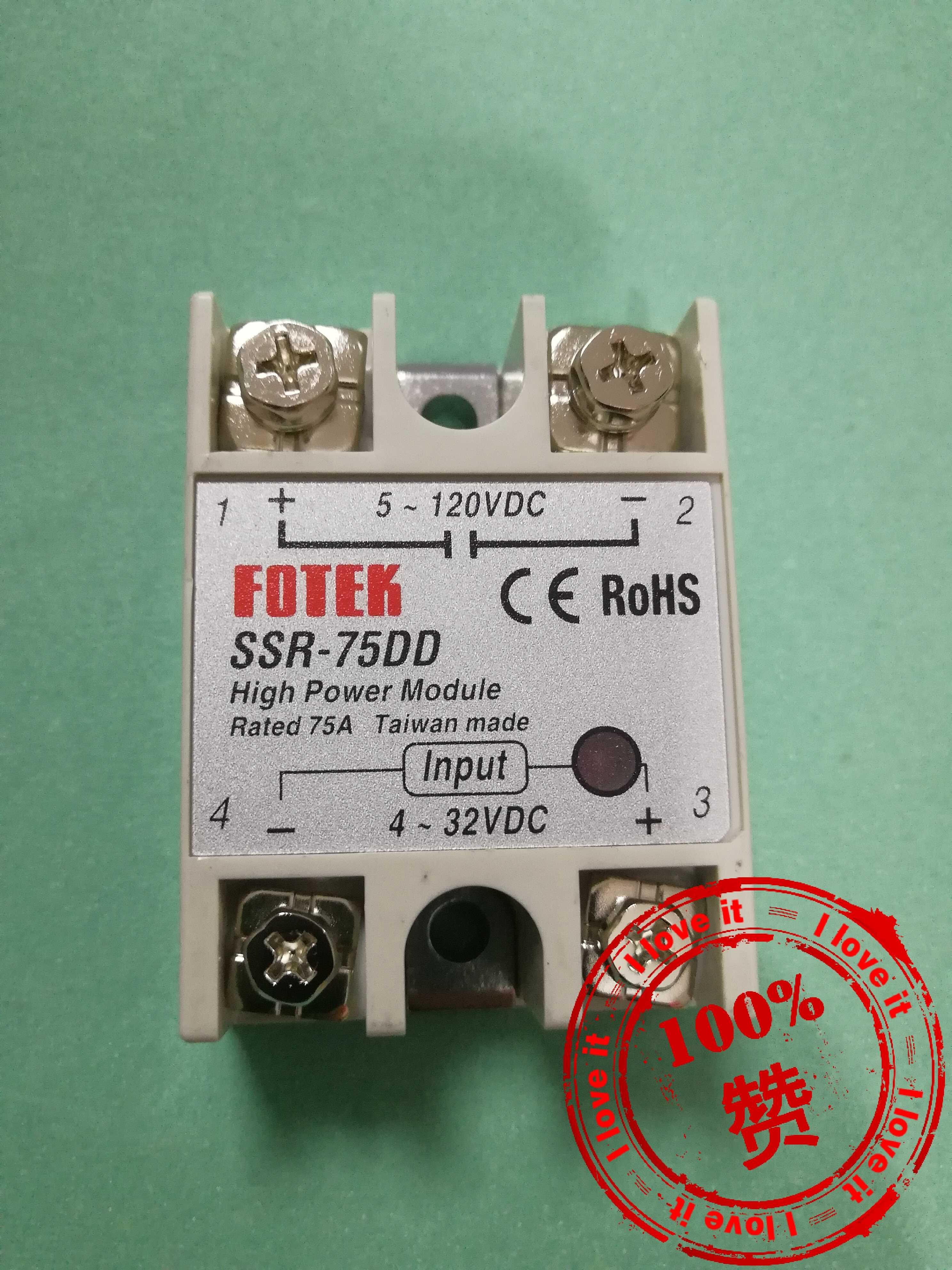 New Original Single-phase Solid-state Relay SSR-75DD Genuine Electromechanical