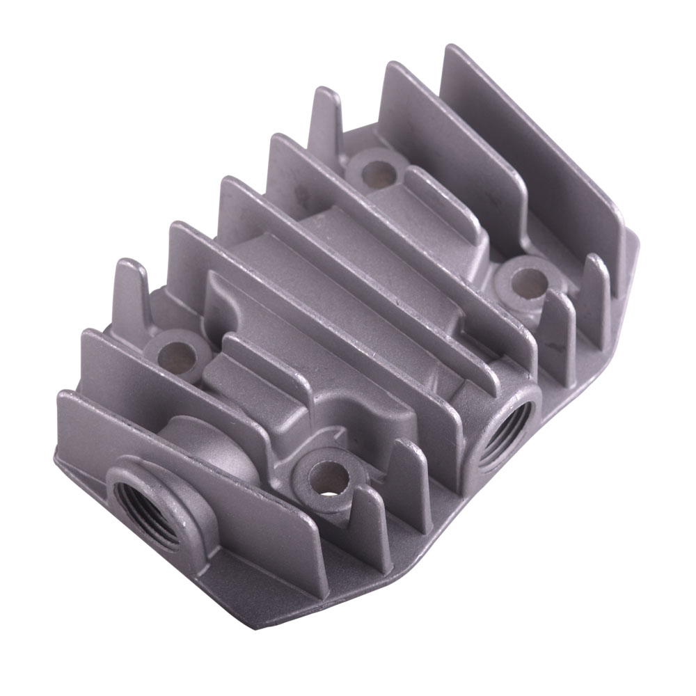 Gray Metal Female Threaded Cylinder Head Air Compressor Spare Parts Hardware 15mm/18mm/19mm