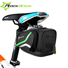 ROCKBROS Rainproof MTB Bicycle Saddle Bags Reflective Mountain Road Bike Tail Bags 4 Colors Outdoor Seat Cycling Accessories