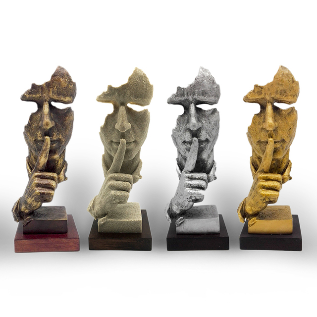 Free Shipping Decorative Craft Resin Figure Statue Abstract ...