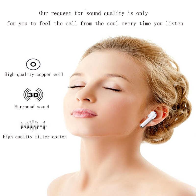 Touch Operation, Popover Design,TWS 1:1 Air Wireless Bluetooth Earphone Headset Separate Use Bass pk i10 i60 i30 i20 i80 I90 i7