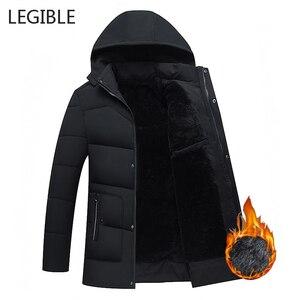 Image 2 - קריא חדש 2020 גברים Jacket מעילים לעבות חם חורף מעילי גברים דובון סלעית להאריך ימים יותר כותנה מרופדת מזדמן מעיל