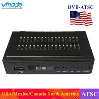 Vmade Satellite receiver HD Digital DVB ATSC TV Tuner Receivable MPEG4 DVB ATSC Tuner Free Shipping Support bisskey Korea Canada