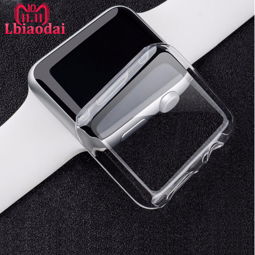 PC cover for Apple Watch case 42mm 38mm apple watch 5 4 case 44mm 40mm Plated protector bumper for iWatch 4 3 2 1 series 40 38mm image