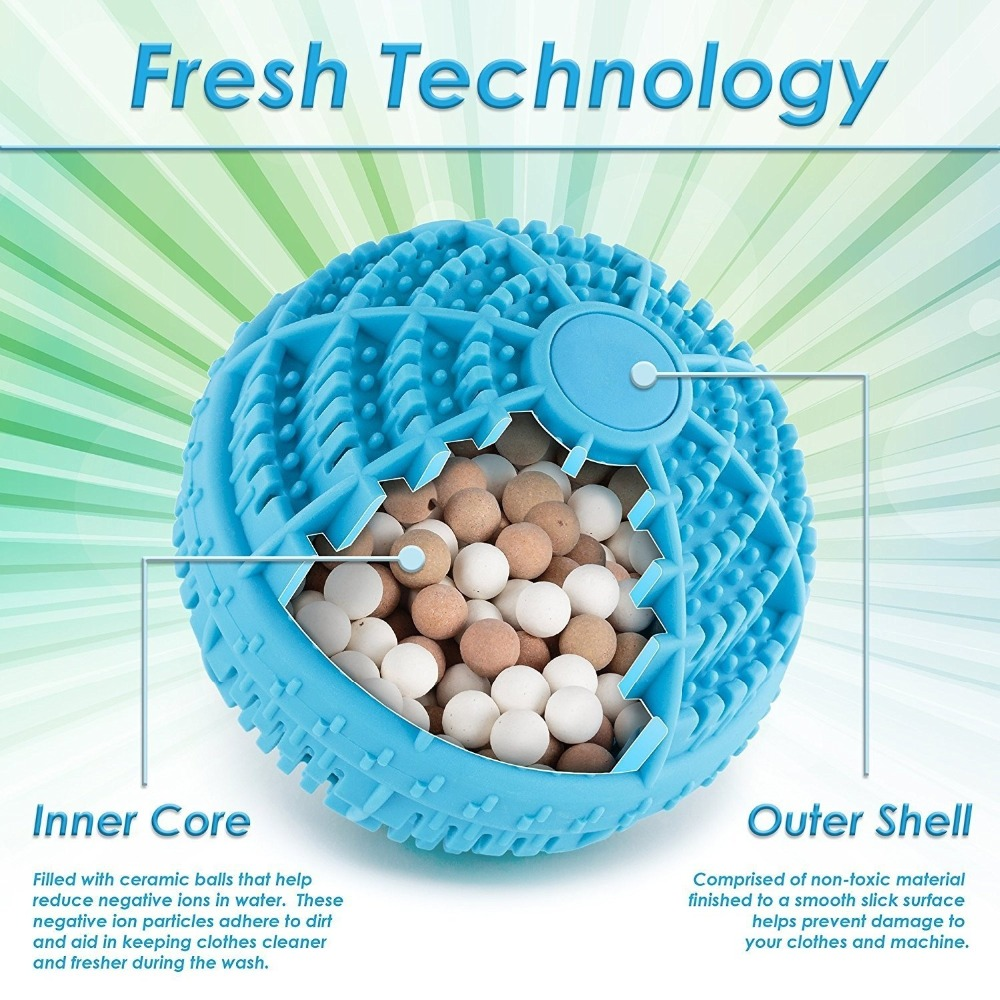 Eco Friendly Magic Washing Ball Reusable Non Toxic Detergent Free