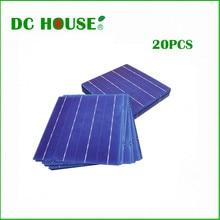 Солнечных батарей 6×6 20 шт. 80 Вт класса 4 баров 4.3 Вт diy солнечной панели 156 х 156 мм поликристаллического солнечных батарей цена