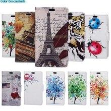 Case Maple Leaf Tower Leather Wallet Flip Cove sFor Asus Zenfone 5 Lite ZC600KL X017D ZC 600KL ZC600 KL Mobile Phone Bag Cases