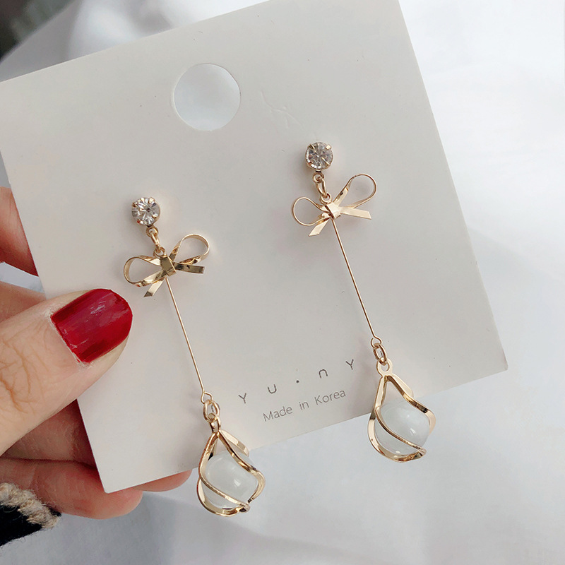 fashion Silver Needle dangle earrings statement korean for women earring aretes 2019 jewelry