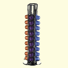 2019 Steel Stainless Coffee Pod Holder 40 Pods Rotating Dispenser coffee Capsule Dispensing Stand Storage Rack for Nespresso
