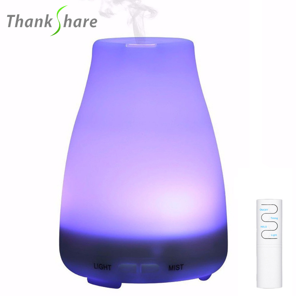 THANKSHARE 200ml Ultrasonic Air Humidifier Aroma Essential Oil Diffuser Aromatherapy Cool Mist Maker For Home Office